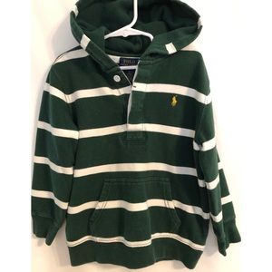 Ralph Lauren Pullover hoodie, green and white